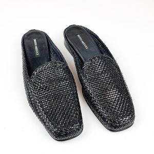 Sesto Meucci Italian Woven Leather Slides | 9N
